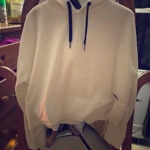 Calvin Klein cream velour hoodie